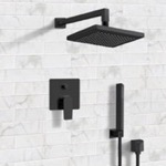 Shower Faucet, Remer SFH32, Matte Black Shower System with 8